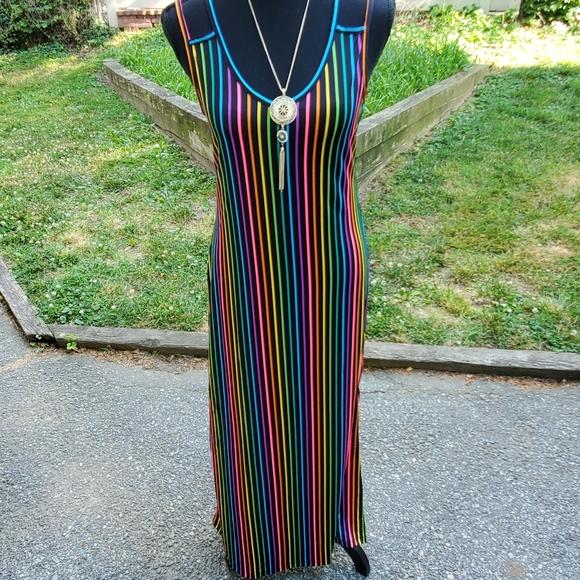 Love Dresses & Skirts - Rainbow Stripe Maxi Dress
